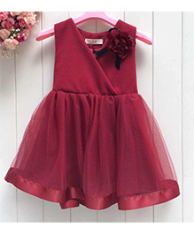 Tickles 4 U Party Dress - Wine Red