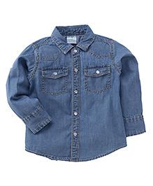 Babyhug Full Sleeves Denim Shirt - Light Blue
