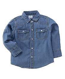 Babyhug Full Sleeves Denim Shirt - Light Blue
