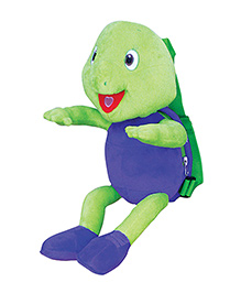 Purple Turtle Back Pack Purple And Green - 12 Inches