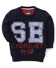 Olio Kids Full Sleeves Sweatshirt Hydrojet Print - Navy