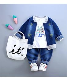 Superfie Jacket 3 Piece Denim Sets - Blue