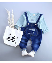 Superife Denim Dungaree Sets - Blue