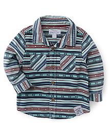 Pumpkin Patch Full Sleeves Shirt Stripes Print - Multi Color