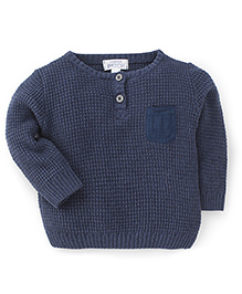 Pumpkin Patch Full Sleeves Pullover Sweater - Blue