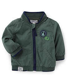 Pumpkin Patch Full Sleeves Jacket With Pockets - Green
