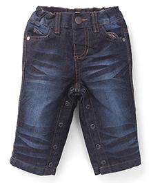 Pumpkin Patch Jeans With Snap Button - Denim Blue