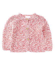Pumpkin Patch Front Open Sweater - Pink White