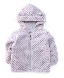 Pumpkin Patch Full Sleeves Hooded Jacket - Light Grey