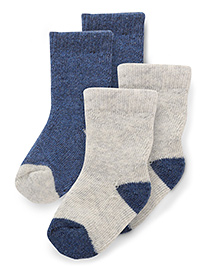 Pumpkin Patch Solid Colour Socks Pair of 2 - Navy Grey