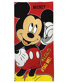 Athom Trendz Disney Mickey Mouse Bath Towel - Red  DIS-06-7-801