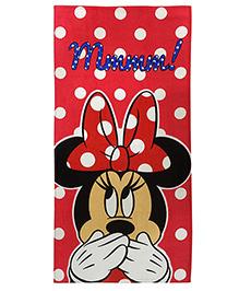 Athom Trendz Disney Minnie Mouse Polka Dot Bath Towel - Red  DIS-06-7-802