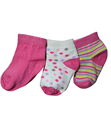 Footprints Super Soft Organic Cotton And Bamboo Socks -  Pack Of 3