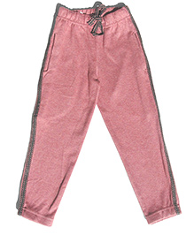 MTB Full Length Track Pants With Drawstring - Brick Pink