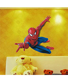 Syga Spider Man Themed Decals Design Wall Sticker - Red Blue