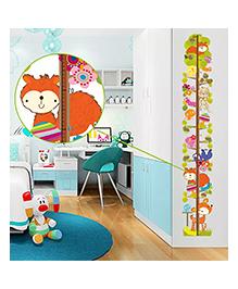 Syga Height Measurement Wall Decal Cartoons Animal Design - Multicolor