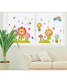 Syga Sunflowers Wall Sticker - Multicolor