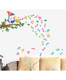 Syga Musical Note Wall Sticker - Multicolor
