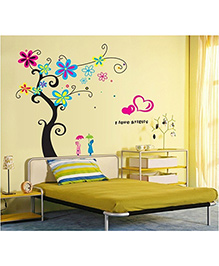 Syga Tree Wall Sticker - Multicolor - 1077790