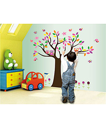 Syga Tree Wall Sticker - Multicolor - 1077792