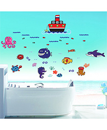 Syga Sea Animals Wall Sticker - Multicolor