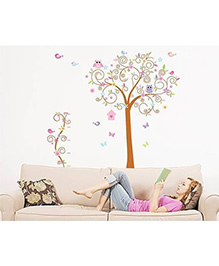 Syga Tree Wall Sticker - Multicolor - 1077819
