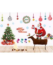 Syga Decals Santa Claus Wall Sticker - Multicolor