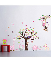 Syga Decals Zoo Animals Wall Sticker - Multicolor