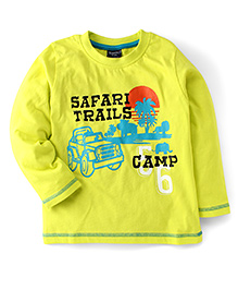 Taeko Full Sleeves T-Shirt Safari Trails Print - Yellow