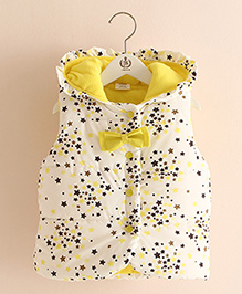 Pre Order - Mauve Collection Quilted Style Trendy Print Jacket - Yellow