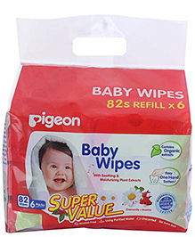Pigeon Baby Wipes Cham And Rose 6 In 1 Bag
