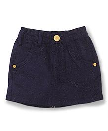 Vitamins Shimmer Skirt - Navy Blue
