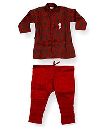 Needybee Sherwani Breeches Dress Set - Maroon