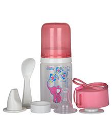 Small Wonder Pure Plus Feeding Bottle Set Pink - 125 Ml