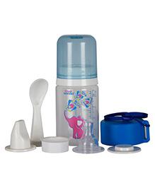 Small Wonder Pure Plus Feeding Bottle Set Blue - 125 Ml