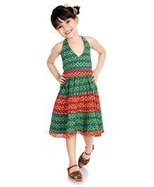 Little Pocket Store Ethnic Style Dress - Green