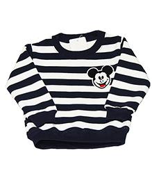 Kiwi Full Sleeves Sweatshirt Mickey Patch - Blue White