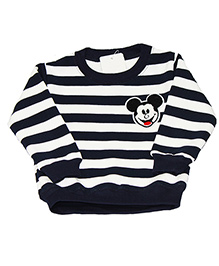Kiwi Full Sleeves Sweatshirt Mickey Patch - Blue White