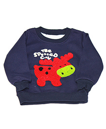 Kiwi Full Sleeves Sweatshirt Cow Patch - Blue