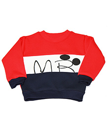 Kiwi Full Sleeves Sweatshirt Mr Print - Red Blue