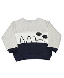 Kiwi Full Sleeves Sweatshirt Mr Print - Grey Blue