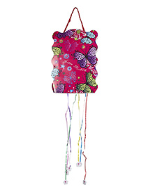 Funcart Happy Birthday Butterflies Pull String Pinata - Pink