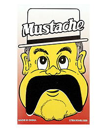 Funcart Stick On Mustache - Black - 1080639