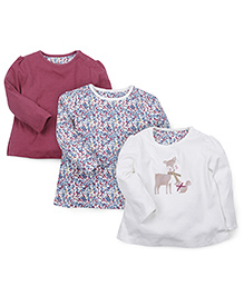 Mothercare Full Sleeves Printed Tops Pack of 3 - Multicolor