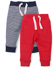 Mothercare Full Length Track Pants Pack Of 2 - Red Navy