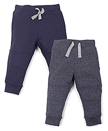 Mothercare Full Length Track Pants Pack Of 2 - Blue Grey