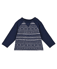 Mothercare Full Sleeves Printed T-shirt - Blue