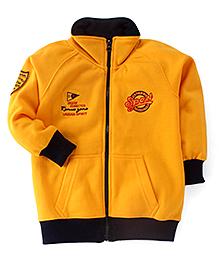 Olio Kids Full Sleeves Sweat Jacket Sport Embroidery - Yellow