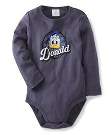 Fox Baby Full Sleeves Onesies Donald Duck Print - Mid Grey