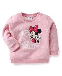 Fox Baby Full Sleeves Sweatshirt Minnie Mouse Design - Pink
